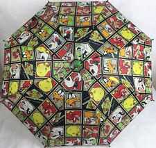 Looney Tunes Umbrella Vintage Characters Bugs Tweety Daffy Pepe Collectible RARE
