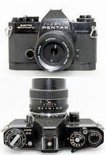 Pentax Asahi ES Electro Spotmatic Camera - Black w/ SMC TAKUMAR 55mm f/1.8 Lens