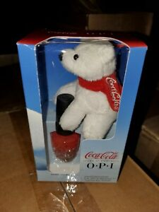OPI Coca Cola Plush Bear and Bearest of Them All Set Nail polish collectible
