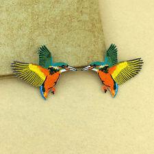 1 Paar Vögel Aufbügler Bügelbilder Patches Patch Bügelflicken Flicken 8.6*6.8cm