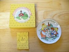 """Avon Porcelain Plate - """"School Is A New Beginning"""" - 1986 - 5"""" - 22K gold trim"""
