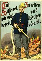 Tut Hilfe Not Feuerwehr Blechschild Schild gewölbt Tin Sign 20 x 30 cm F0251