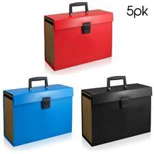 5x Pocket Expanding A4 Box File Organiser Paper Documents Foolscap Folder Case