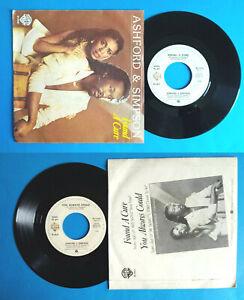 "7""45 Giri ASHFORD & SIMPSON Found A Cure/You Always Could Funk Disco Italy Vinyl"