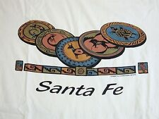 Vintage Santa Fe New Mexico Tribal Native American Indian Art T Shirt L