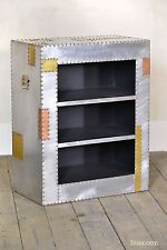Dusx Industrial Aluminium & Copper 3 Shelf Bookcase