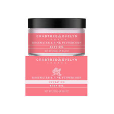 ROSEWATER & PINK PEPPERCORN~Body Gel~CRABTREE & EVELYN~8.5 oz /250mL~BOXED~NEW