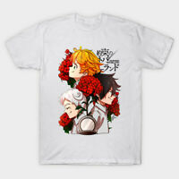 The Promised Neverland Hope Emma Norman Ray Anime White T-Shirt S-6XL