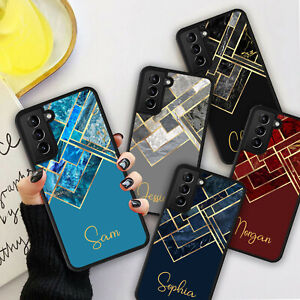 PERSONALISED GEOMETRIC MARBLE Phone Hard Case Cover For iPhone 7 8 12 13 Pro Max