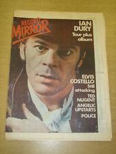 RECORD MIRROR 1979 MAY 19 IAN DURY ELVIS COSTELLO POLICE SISTER SLEDGE ABBA