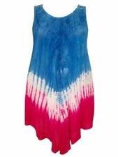 Women's Tie Dye Sleeveless with Smocked