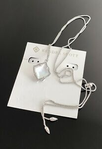 Kendra Scott Mother Of Pearl long necklace NEW