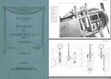 SPAD S.VII Technical Biplane Manual RARE PERIOD DETAILS WWI 1917 warbird ARCHIVE