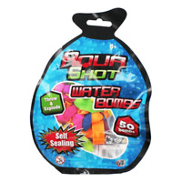 SUPER SELF SEALING 50 WATER BOMBS BALLOONS GARDEN SUMMER FUN + FILLING NOZZLE