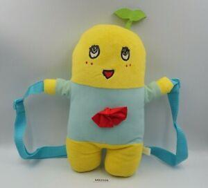 "Funassyi MB2506 mascot Zipper Sling Bag Backpack 13"" Plush Toy Doll Japan"