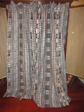 CORTINAS BARA DE BOLSILLO SOUTHWESTERN BLACK TAN GRAY (3) PANELS W/TIEBACKS