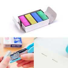 1Pack 12mm Creative Colorful Stainless Steel Staples Office Binding Supplies _es