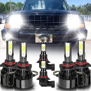 For Jeep Commander 2006 2007 2008 2009 2010 6000K faro LED Hi/Lo+luz antiniebla