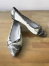 Amalfi By Rangoni Zilla Patent Leather Pointy Toe Flats, Size 9M
