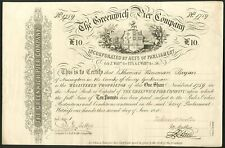 More details for greenwich pier company, £10 share, 1840