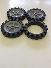 "Knex Wheels Lot 3 Medium 2.5"" 2-1/2"" Tires w/Gray Pulleys-Rims-Hubs &1 Tire Only"