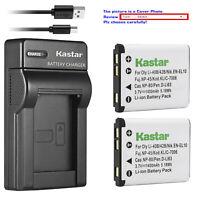 Kastar Battery Slim Charger for Fuji NP45 NP45A & FinePix JZ305 FinePix JZ310