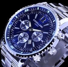 Excellanc Herren Armband Uhr Blau Datumsanzeige Datum Edelstahl SI 4