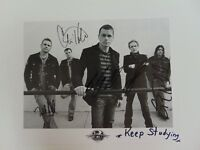 """Kryptonite"" 3 Doors Down Group Signed 10X8 B&W Photo Todd Mueller COA"