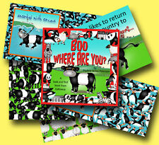 BOO WHERE ARE YOU? Children's Picture Book Age 2+ Belted Galloway Beltie