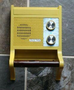 Rare Vintage GRAN-PRIX Toilet Paper Dispenser Holder w/Built-in Radio MAN CAVE