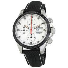 Fortis Stratoliner Ceramic A.M. White Dial Mens Performance Leather Watch