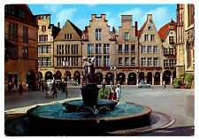 Munster Germany Postcard City of Westphalian Peace Fountain Posted Vintage