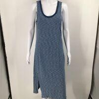 Anthropologie Saturday Sunday Womens Giona Midi Dress Blue Stripe Sleeveless M