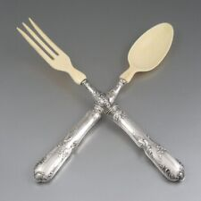 Antique French Sterling Silver Clad Salad Set, Louis XV Style, Page Frères, 1901