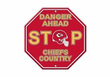 NFL Kansas City Chiefs Stop Sign Room Bar Decor 12 x 12