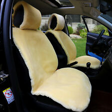 1 pc Car Front Seat Cover Faux Fur Seat Cushion Winter Warmer Plush Car Seat Pad