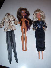 Cute Htf Lot Collector'S Barbie Mattel Monster Torale High Vtg Vanna White Dolls