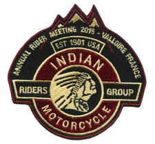 INDIAN MOTORBIKE CLUB IRON ON PATCH  - AMERICANA - GREAT QUALITY - RRP £7.50