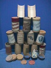 12 Edison/other Empty Cylinder Record Cases and Related Paper Items *See 12 Pics