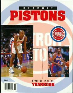 1994-95 Detroit Pistons Official Team Yearbook Grant Hill & Joe Dumars