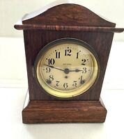 ANTIQUE SETH THOMAS BELL MANTLE CLOCK WORKING