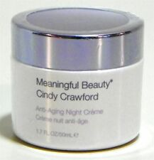 Cindy Crawford Meaningful Beauty Anti-Aging Night Creme Cream 1.7 Full Sealed