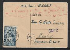Polen Postkarte Kladzko nach Nürnberg, US CIVIL CENSHORSHIP MUNICH, Zensur 1946