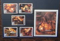 Aitutaki 1988 Christmas Paintings by Rembrandt set & Miniature sheet MNH