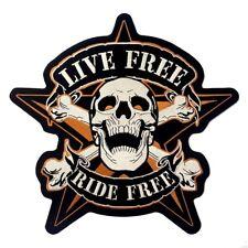 Patch Skull étoile Ride Free écusson thermocollant biker blouson gilet custom GF