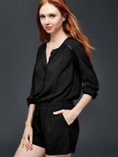 Gap Black Long Sleeve Romper 4 6 S