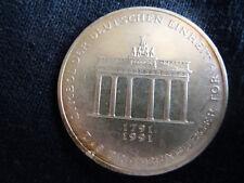 10 DM Gedenkmünze 'Brandenburger Tor' 1991 Silber *A*