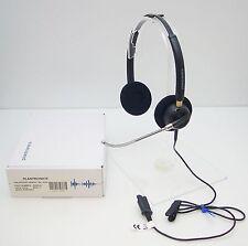 Plantronics EncorePro HW520V Binaural Over-The-Head Voice Tube Headset Open Box