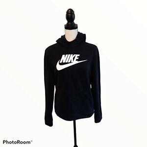 Nike Fleece Black Unisex Kids Hoodie Size XL