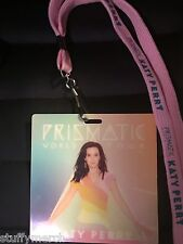 KATY PERRY RARE Prismatic Tour VIP LAMINATE PASS NECKLACE LANYARD WITNESS SWISH